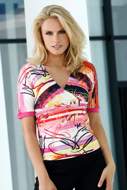 t-shirt-stretch-imprime-rose