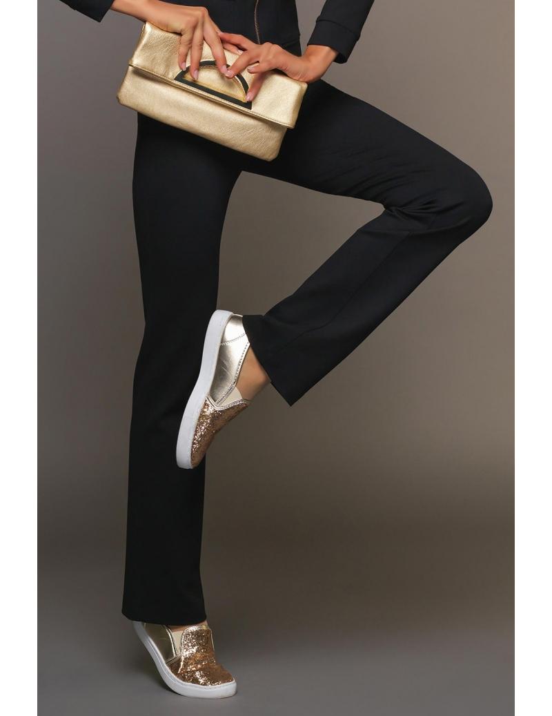 pantalon femme hiver sport chic noir taille haute margot bleu d 39 azur. Black Bedroom Furniture Sets. Home Design Ideas