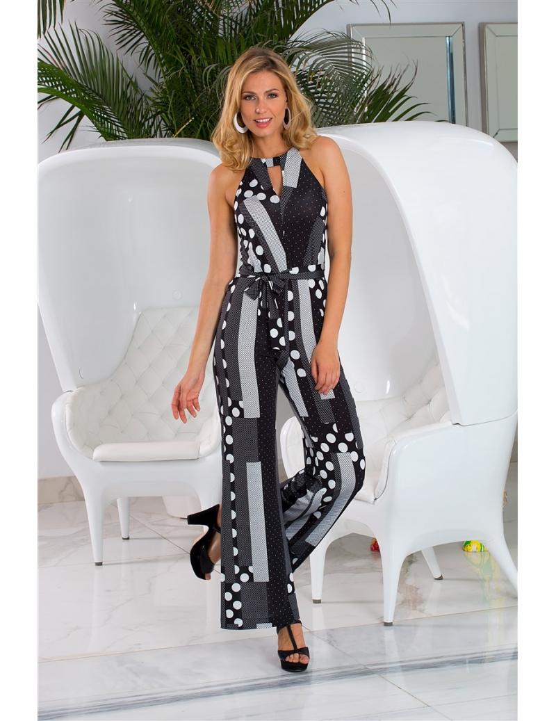 combinaison t femme pois noir blanc retro pina bleu d 39 azur. Black Bedroom Furniture Sets. Home Design Ideas