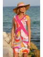 Robe été colorée psychedelique rose femme chic Birkin