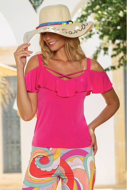 TOP FOXY DISCO FUCHSIA