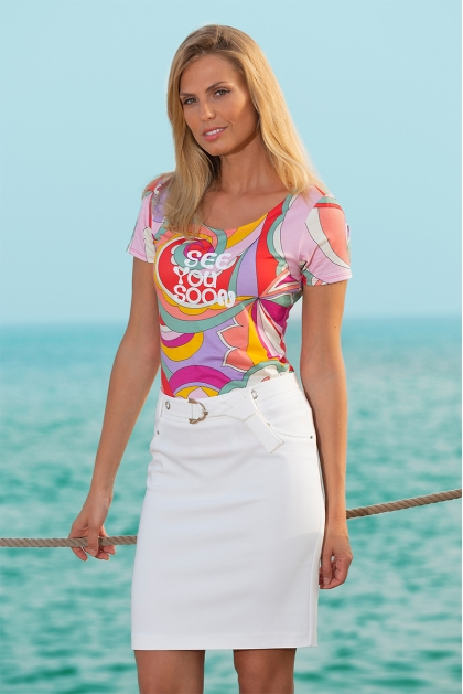 Tshirt psychedelique mode femme style années 70 Tina