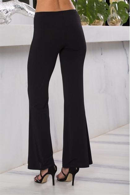 Pantalon fluide noir large taille haute confortable Volta