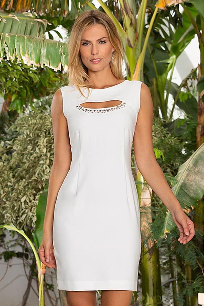 be4993ab429 Robe blanche chic habillée décolleté clou mode été Brasil