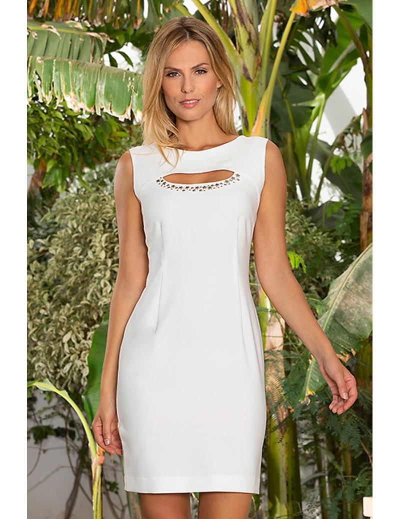 ae4656f0a94 Robe blanche chic habillée décolleté clou mode été Brasil. Loading zoom