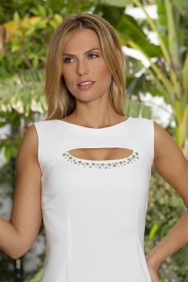 Robe blanche chic habillée décolleté clou mode été Brasil