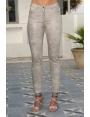 Pantalon sable irisé taille haute mode femme chic Diego