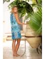 Robe été imprimée reptile bleuté mode femme chic Kenya