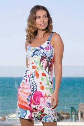 Robe bretelle droite colorée mode femme casual chic lucy