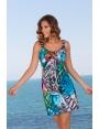Robe été femme à bretelles jersey imprimé sauvage Playa