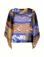 Blouse été femme 2 en 1 imprimée motif patchwork Antik