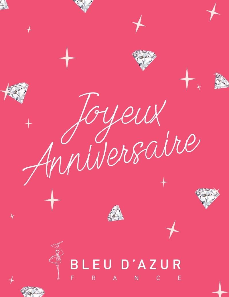 Carte Cadeau Joyeux Anniversaire Bleu D Azur France
