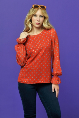 BLOUSE DISCO LUREX A POIS