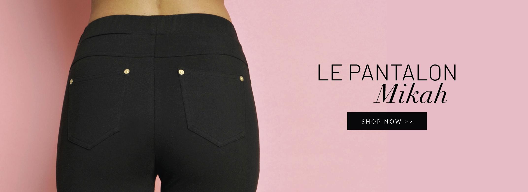 Découvrez l'inimitable pantalon noir Mikah
