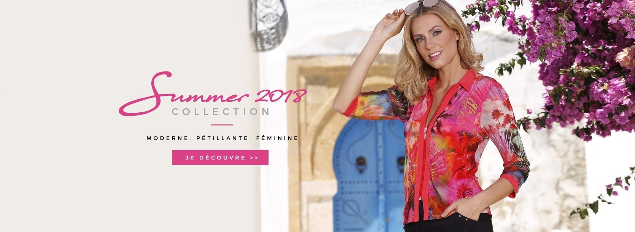 Collection vêtements femme été 2018