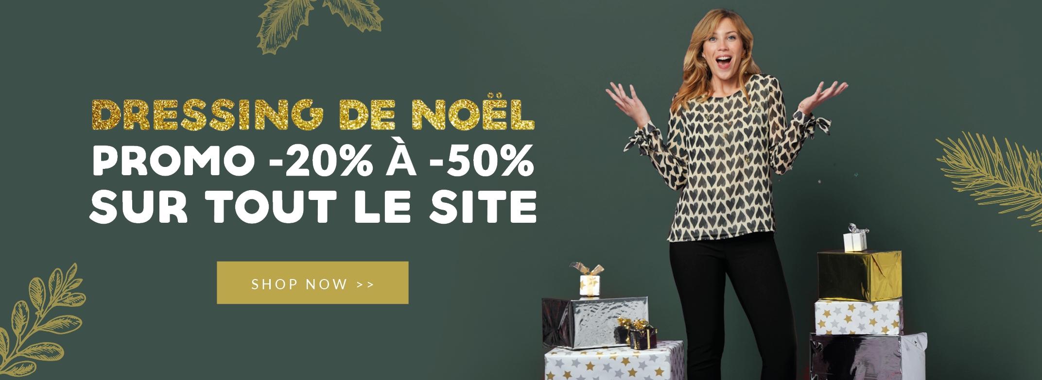 Dressing de Noël : -20% à -50% sur tout le site !